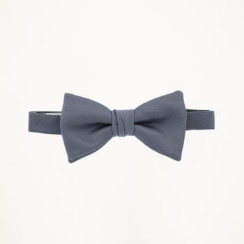 Charcoal Satin Bow Tie