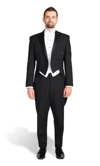 Black Peak Lapel Tail