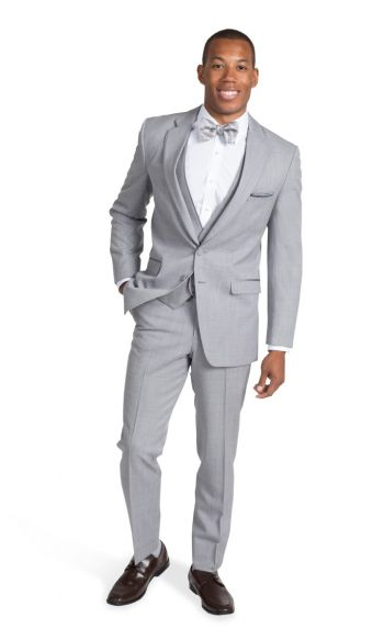 Heather Grey Notch Lapel Suit