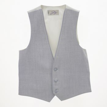 Heather Grey Wool Vest