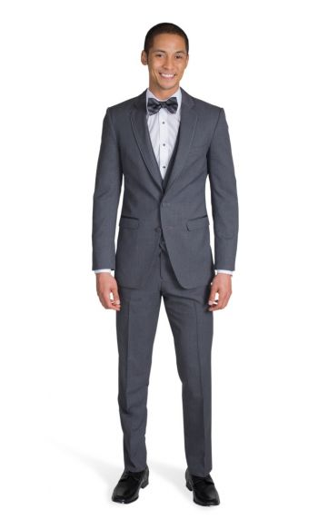 Charcoal Grey Notch Lapel Suit