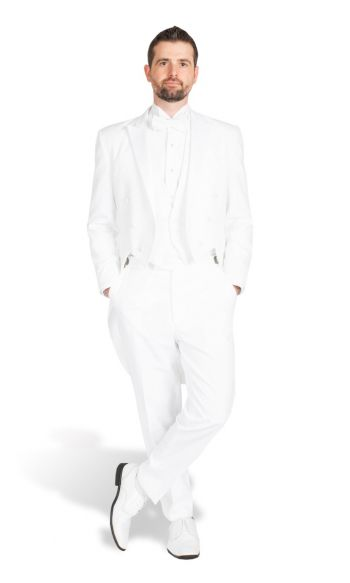 White Peak Lapel Tail