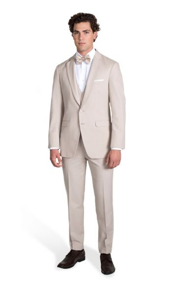 Tan Notch Lapel Suit
