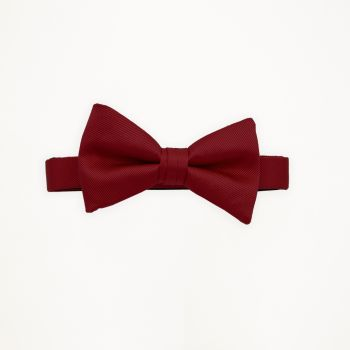 Apple Red Solid Bow Tie