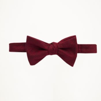 Apple Red Matte Bow Tie
