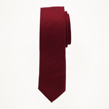 Apple Red Matte Long Tie