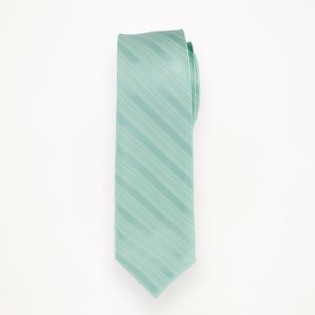 Aqua Striped Long Tie