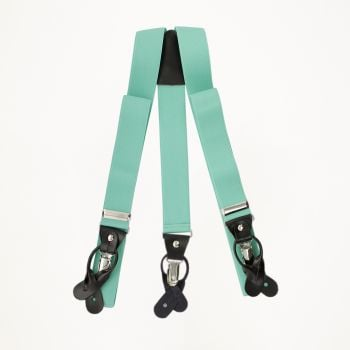 Aqua Button And Clip Suspenders