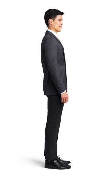 Asphalt Grey Notch Lapel Performance Suit