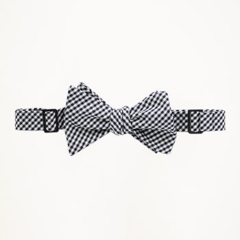 Gingham Plaid Patterned Bow Tie