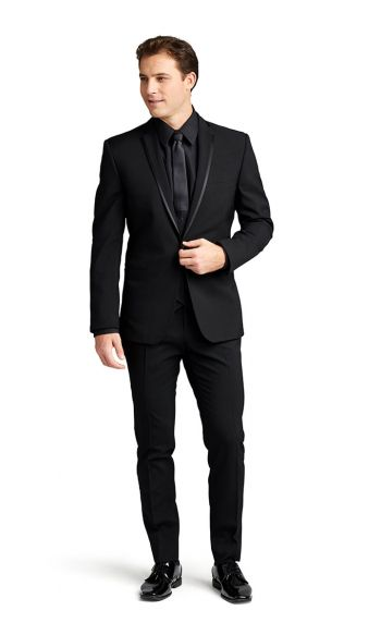 Black Framed Notch Lapel Tuxedo