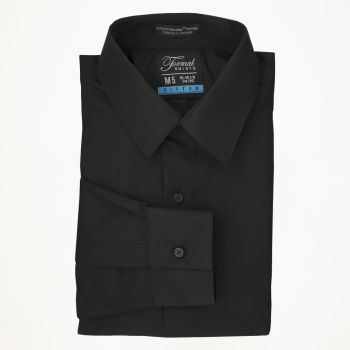 Black Laydown Collar Shirt