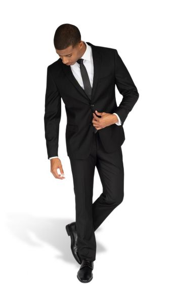 Black Modern Fit Suit