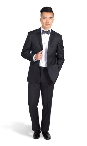 Black Notch Super 140s Wool Tuxedo