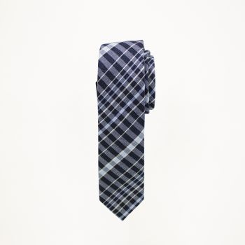 Navy And Blue Plaid Tie
