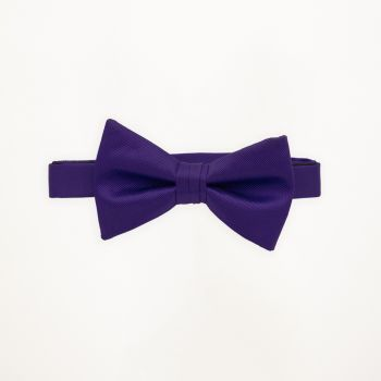Blue Violet Solid Bow Tie