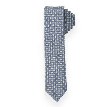 Light Blue Mini Floral Tie