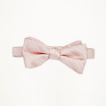 Blush Striped Bow Tie