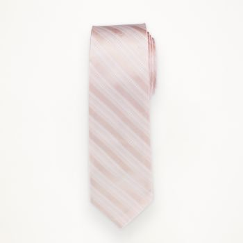 Blush Striped Long Tie