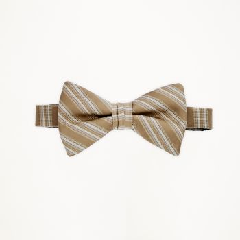 Bronze Striped Bow Tie