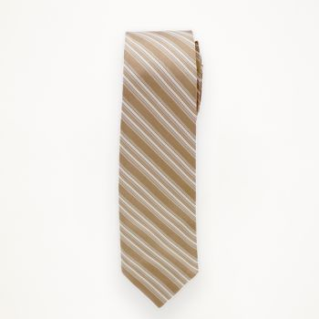 Bronze Striped Long Tie