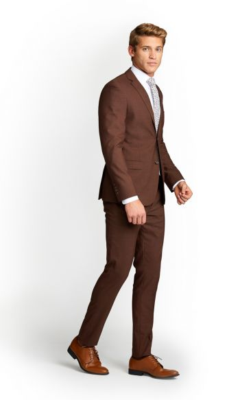 Brown Slim Fit Suit