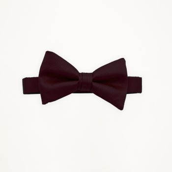 Burgundy Solid Bow Tie