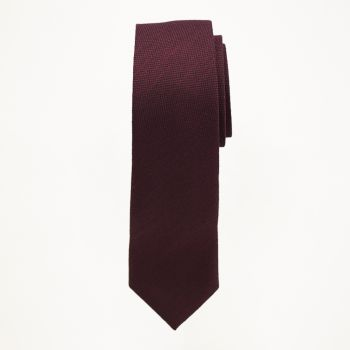 Burgundy Matte Long Tie