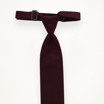 Burgundy Solid Long Tie