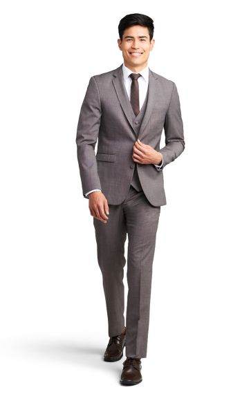 Café Brown Notch Lapel Suit