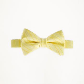 Canary Striped Bow Tie
