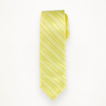 Canary Striped Long Tie