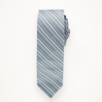Charcoal Striped Long Tie