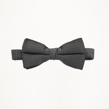Charcoal Pindot Bow Tie