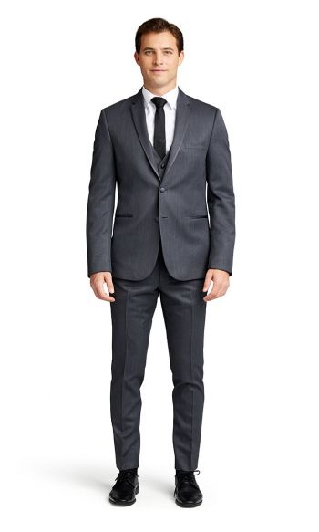 Charcoal Notch Lapel Tuxedo