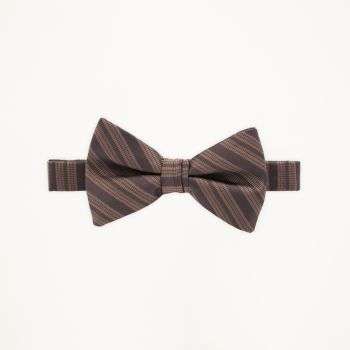 Chocolate Striped Bow Tie