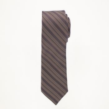 Chocolate Striped Long Tie