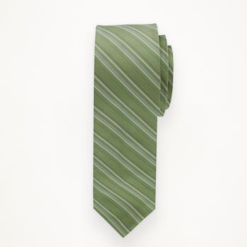Clover Striped Long Tie