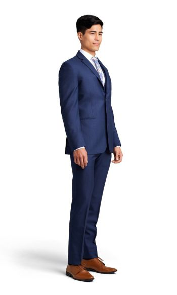 Dark Blue Notch Lapel Suit