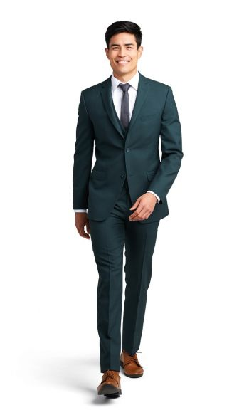 Green Notch Lapel Suit