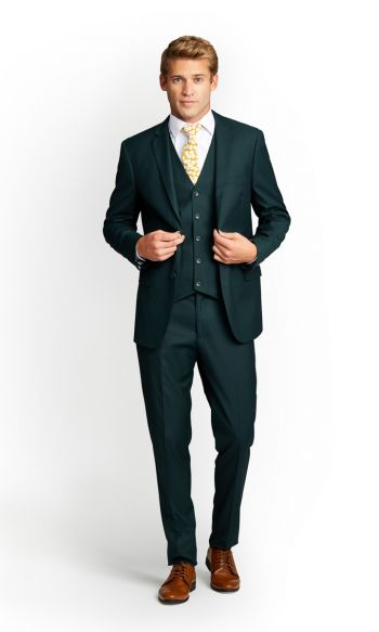 Dark Green Slim Fit Suit