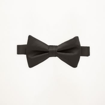 Dark Grey Solid Bow Tie