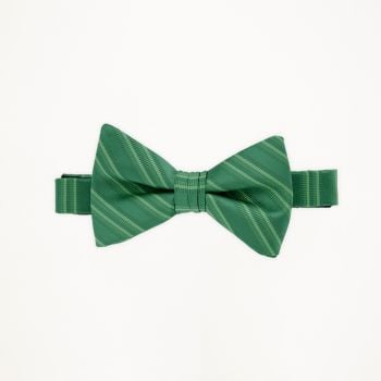 Emerald Striped Bow Tie