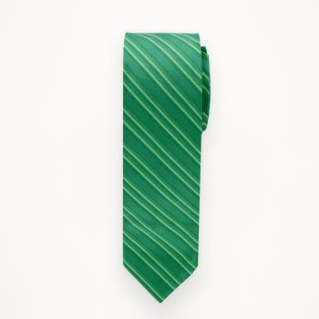 Emerald Striped Long Tie