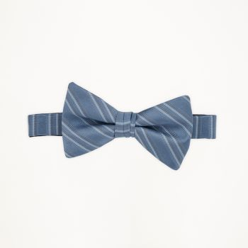 Ever After Blue Striped Bow Tie