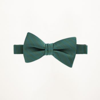 Evergreen Striped Bow Tie