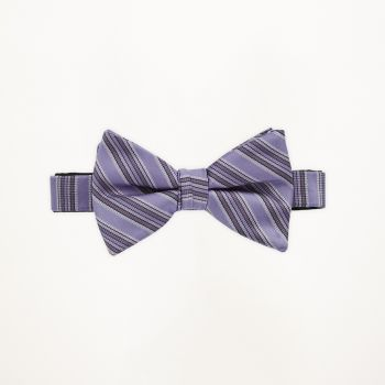 Freesia Striped Bow Tie