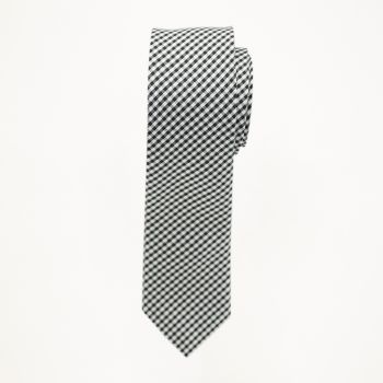 Gingham Plaid Long Tie