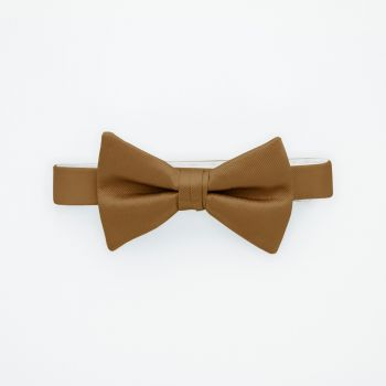Golden Solid Bow Tie