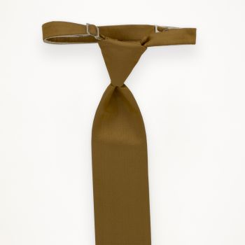 Golden Solid Long Tie